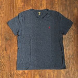 Men's Polo Brand T-Shirt Heather Blue Size Large